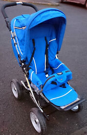 Lovely Royal Blue Emmaljunga Scooter Pushchair REDUCED TO CLEAR