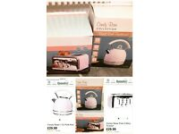 Brand new lovely Pink kettle and toaster set,selling due to change of mind!