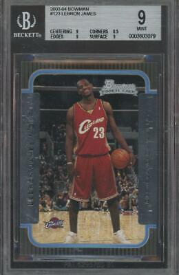 2003 Bowman #123 LeBron James RC Rookie Mint BGS 9