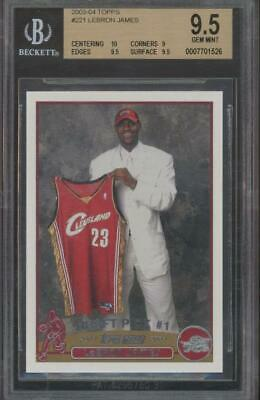 2003 Topps #221 Lebron James (10 9 9.5 9.5) RC Rookie Gem Mint BGS 9.5