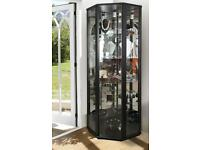 Corner Glass Display Cabinet Unit – Various colours