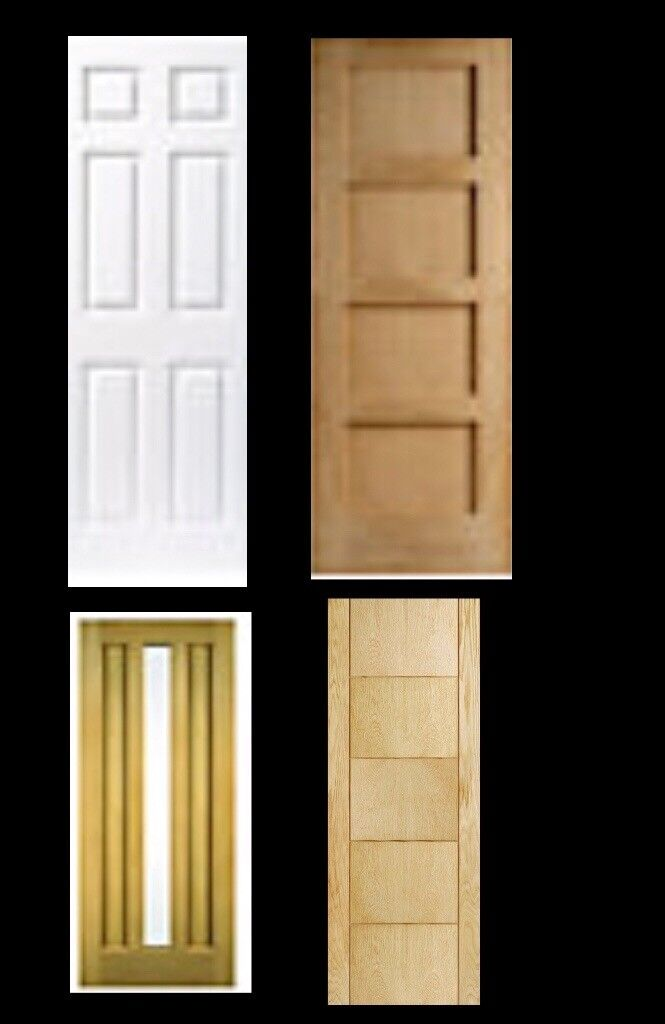 Brand New Internal Doors Assorted Styles Factory Clearance In