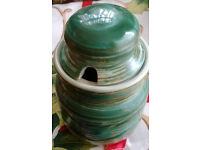 vintage secla pottery honey jar