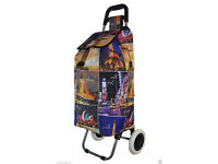 Funky Trendy Folding Lightweight Shopping Trolley Designer Shopping Bag on Wheel