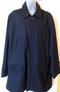 NEW 2X TALL Mens Wool Peacoat PEA JACKET XXL 50 52 BLUE BLACK OLD NAVY XXL  // BIG AND TALL // MAN SPRING COAT