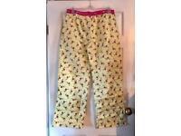 Boux Avenue Lemon Flamingo Pyjama Pants Size 12