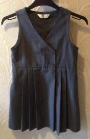 M&S School Wear Traditional Pinafore, Age 7&6