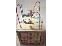 ELC Wooden Activity Cube - Excellent Condition - Cost £45 - Selling At £25