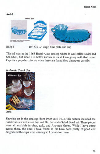 Glass Snack Sets, 1941 to the present