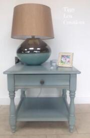 Hand painted side table / lamp table