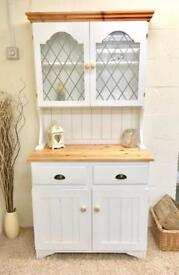 Solid Pine Dresser With Leaded Glass *** £199 *** ALL MAJOR DEBIT AND CREDIT CARDS ACCEPTED
