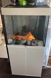 Juwel 190L Fish Tank & Cabinet white