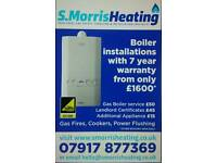 Boiler service's, instalations, breakdowns, landlord certificates, gas work.