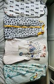 4 x sleep suits/sacks * 6 - 18mnth