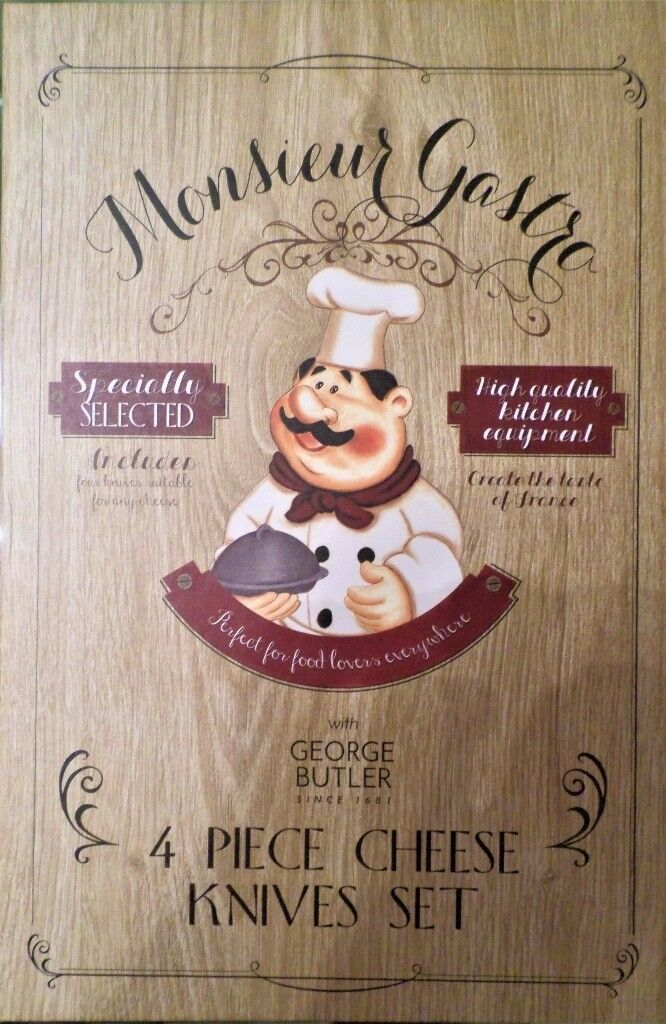Gift Boxed - Monsieur Gastro 4 Piece Cheese
