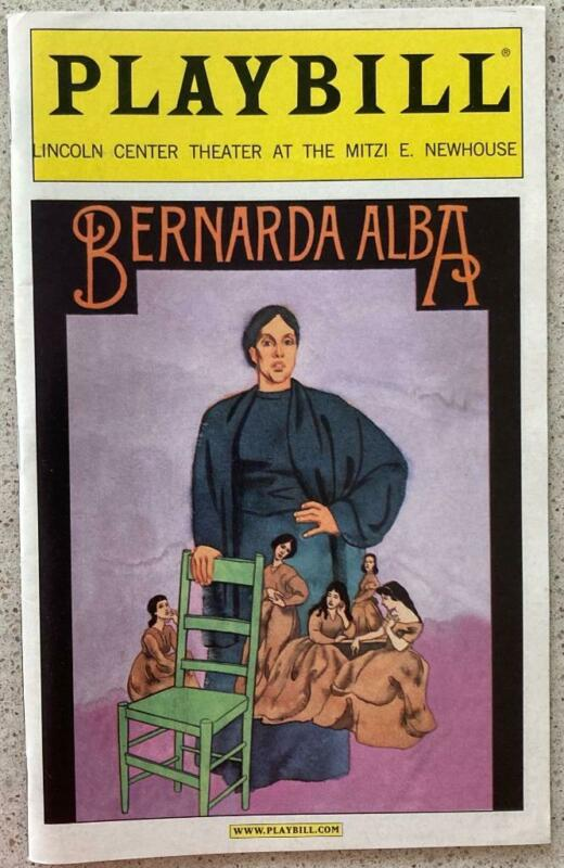 Playbill Bernarda Alba Nikki M. James Daphne Rubin-Vega Phylicia Rashad LaChiusa