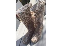 Leopard print wellies - size 4 (37)