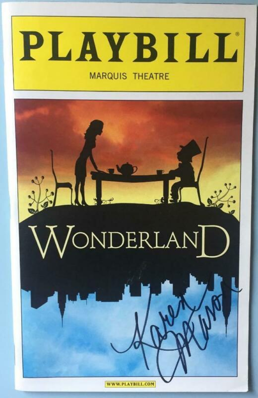 Signed Karen Mason (only)  Playbill Wonderland  Janet Dacal  Darren Ritchie 2011