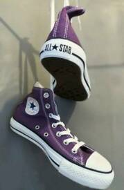 Brand New Purple High Top Converse Size 5
