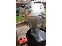 2008 8hp (BF8DSHA) Honda 4 stroke outboard