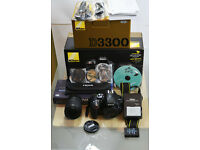 Nikon D3300 kit with accesorries