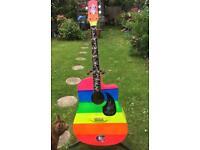 Rainbow Sparkle Electro Acoustic Guitar