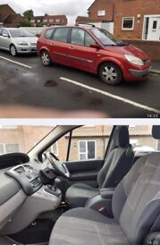 Renault grand scenic diesel red 2004 seven 7 seater