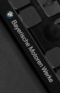 2-x-BMW-European-Euro-License-Number-Plate-Frame-Holder-Tag-Mount