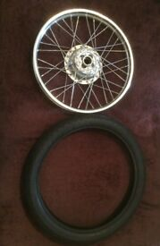 Honda CG125 front wheel and tyre