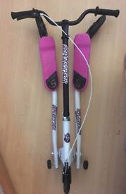 Pink and white sporter scooter