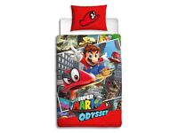 Nintendo Super Mario Odyssey Single Duvet Cover | Reversible Two Sided *NEW RRP £22.99*