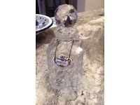 Vintage heavy lead crystal decanter perfect condition
