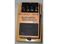 BOSS AC-3 ACOUSTIC SIMULATOR GUITAR EFFECTS PEDAL
