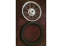 CG125 front wheel and tyre