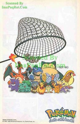 Pokemon Got Ya! Gotta catch 'em all! Nintendo Print Ad!