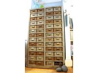 Fantastic industrial mid century multi drawer cabinet by Colangular.