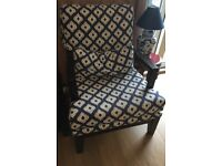 Arm chair and ottoman for sale