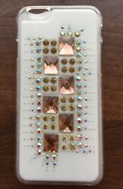 BARGAIN!! Apple iphone 6 / 6+ / 6s / 6s+ Beautiful Diamond Covered WHITE Phone Cover Case