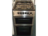 Beko 50 cm wide double oven and grill gas cooker