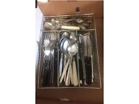 Mixed assortment of cutlery