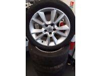 "Vauxhall Zafira 17"" Alloy Wheels"