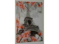 Eiffel tower picture on glass