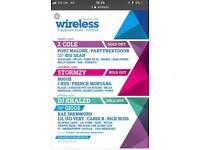 Wireless tickets x2 Friday
