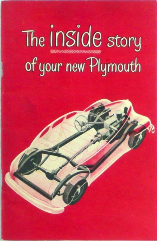 The Inside Story Of Your New Plymouth & Operating Manual