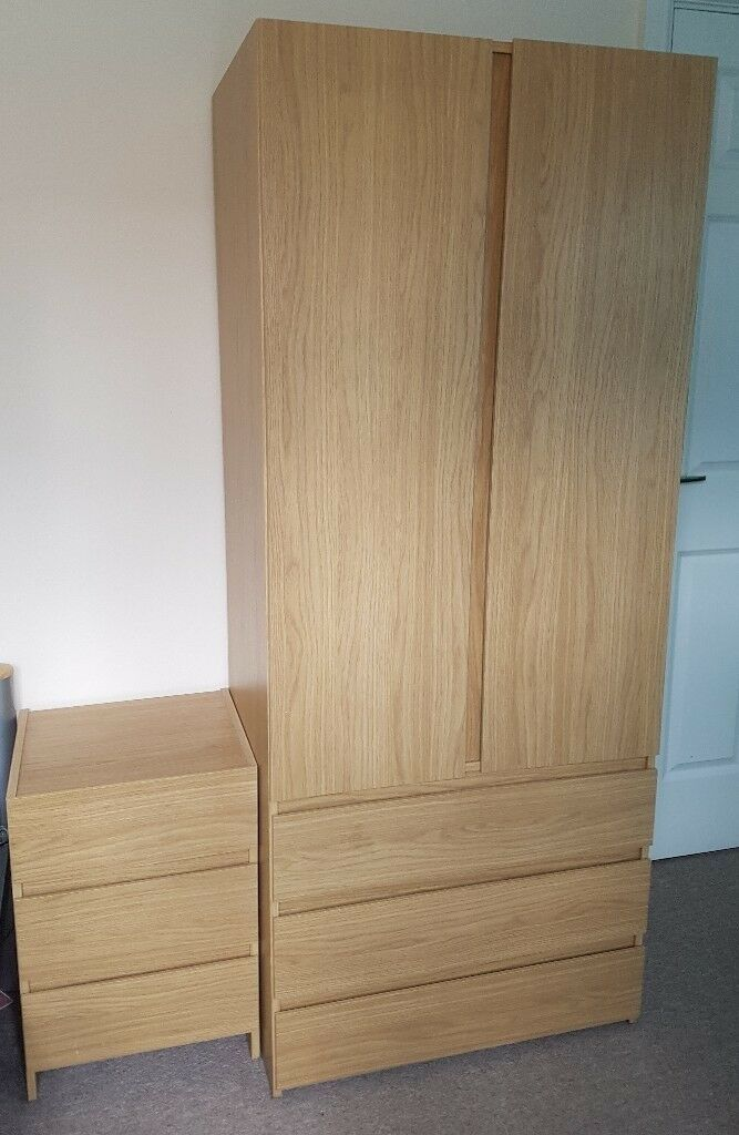 Awe Inspiring Bedroom Furniture Set Denver Oak Effect Handleless Wardrobe Bedside Cabinet In Amesbury Wiltshire Gumtree Download Free Architecture Designs Rallybritishbridgeorg