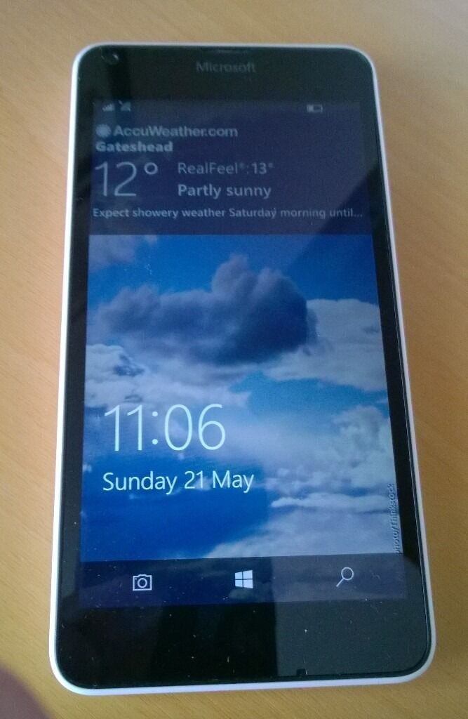 Microsoft (Nokia) Lumia 640 LTE 4G Smartphone (Unlockedin Sunniside, Tyne and WearGumtree - Microsoft (Nokia) Lumia 640 LTE 4G Windows 10 smartphone in white in excellent condition and in perfect working order comes boxed with original charger and there is a 4GB micro sd card installed. Unlocked for use with any network