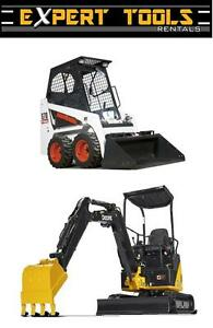 Skid Steer / Mini Excavator Rental!  Bobcat, John Deere, JCB etc