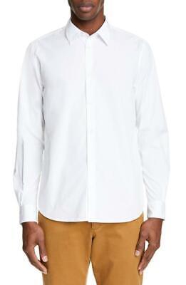 $260 - Norse Projects Hans Slim White Cotton Poplin Shirt Size M