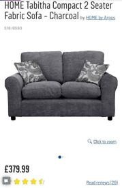 2 seater Tabitha sofa with cushions- excellent condition not even 1 year old.