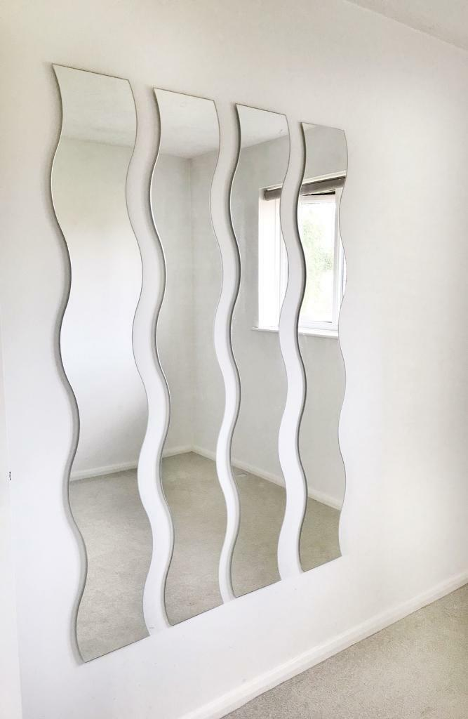 4x Full Length Wavy Wall Mirrors In Hedge End Hampshire Gumtree